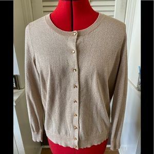 Ladies Talbot's cardigan 1Xp beige and gold